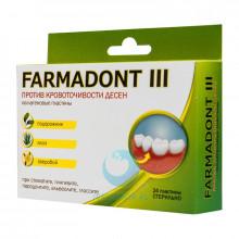 Пластины Farmadont III при кровоточивости десен в Краснодаре