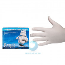 Перчатки смотровые латексные без талька (L) - 100 шт в Краснодаре