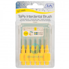 Ершики TePe Interdental Brush 0.7 мм Yellow в Краснодаре