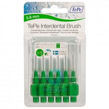 Ершики TePe Interdental Brush 0.8 мм Green в Краснодаре