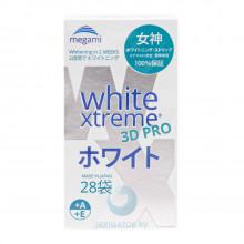 Отбеливающие полоски Megami White Xtreme 3D PRO для чувствительных зубов, 28 шт. в Краснодаре